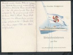 Speise Karte Der Wilhelm Gustloff-seltenes Dokument ....(ze7616 ) -siehe Bild - Briefe U. Dokumente