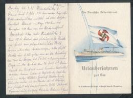 Speise Karte Der Wilhelm Gustloff-seltenes Dokument ....(ze7613 ) -siehe Bild - Briefe U. Dokumente