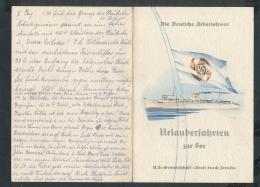Speise Karte Der Wilhelm Gustloff-seltenes Dokument ....(ze7612) -siehe Bild - Briefe U. Dokumente