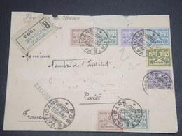 VATICAN - Enveloppe En Recommandé Pour Paris En 1929 , Affranchissement Plaisant ( Incomplet) - L 12380 - Lettres & Documents