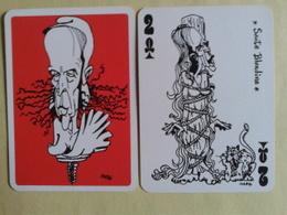 Le GISCARTE. 2 De Tréfle. Sainte Blandine. 20 Siècles D'histoire Caricaturé Par Giscard (Président) - Playing Cards (classic)