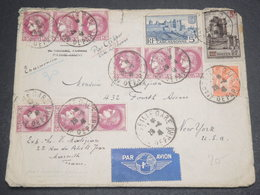 FRANCE - Enveloppe De Marseille Pour Les Etats Unis En 1941  Par Clipper Via Lisbonne - L 12382 - Postmark Collection (Covers)