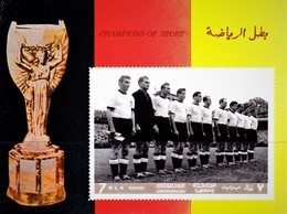 IMPERFORATED SHARJAH 1968. WORLD CUP 1954. TEAM OF GERMANY. LEGENDS OF FOOTBALL. SS** - Ohne Zuordnung