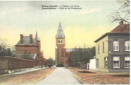 Leopoldsburg - Bourg-Léopold - CPA - Kerk En Het Postkantoor - Leopoldsburg (Camp De Beverloo)
