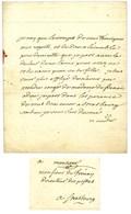 VOLTAIRE, François-Marie Arouet, Dit (1694-1778), écrivain Et Philosophe. - Autografi