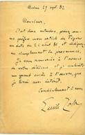 ZOLA Émile (1840-1902), écrivain. - Autografi