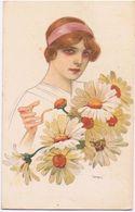Donna Con Mazzo Di Fiori - V.1919 - Moda