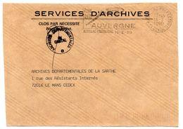 CANTAL - Dépt N° 15 = AURILLAC PREFECTURE 1990 = FLAMME Type II = SECAP Illustrée' ' AUVERGNE CODE 3615  ' - Postmark Collection (Covers)