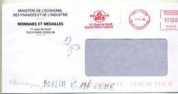 Lettre Flamme Ema Paris Monnaie Medaille - EMA (Print Machine)
