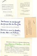 Belgique: 18 Petits Cartons  Faire-part Divers,Naissances,Fiançailles ,Mariages. Bruxelles,Nivelles,Uccle,... - Announcements