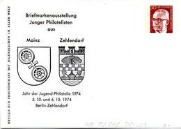 """Berlin Privat GZS-Umschlag PU 048 D2/001 WSt.30(Pf) Krapprot,""""BM-Austellung Junger Philatelisten"""" Ungebraucht - Berlin (West)"""