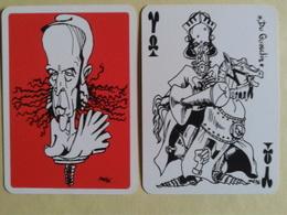 Le GISCARTE. Valet De Tréfle. Du Guesclin. 20 Siècles D Histoire Caricaturés Par Giscard (Président) - Playing Cards (classic)