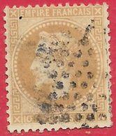 France N°28B Napoléon 10c Bistre 1867 O - 1863-1870 Napoléon III Lauré