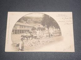 CHILI - Carte Postale De Talcahuano , Plazuela Del Jardin , Animée ,  Voyagé En 1904- L 12398 - Chili