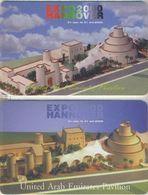 United Arab Emirates (U.A.E.), Chip Phone Cards, UAE Pavilion , Expo'2000 (2-Card) - United Arab Emirates