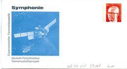 """Berlin Privat GZS-Umschlag PU 049 B1/001 WSt.40(Pf) Orange,""""Experimenteller Fernmeldesatelit"""" Ungebraucht - Berlin (West)"""