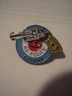 """PIN'S """"AS POLICE*COLMAR*Métal*Années 1990 - Police"""