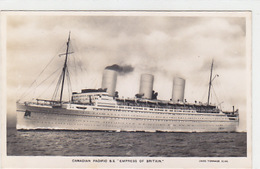 """Canadian-Pacific SS """"Empress Of Britain""""  - Fotocard - 1933   (A-64-161117) - Steamers"""
