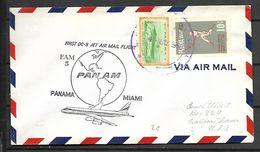 PANAMA    -   Belle LETTRE  Pour  Miami Floride  /  PANAM  /  Avion  /  Base Ball - Panama