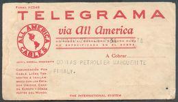 Télégramme ALL AMERICA CABLES Bureau De COLOMBIA De PAIMPOL Le 7 Juillet 1934 Avec Son Enveloppe D'envoi Au Donias Petro - Telegraph