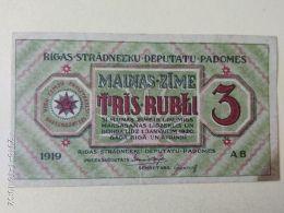 3 Rubli 1919 - Lettonia