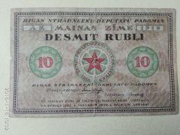 10 Rubli 1919 - Lettonia
