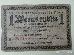 1 Rublo 1919 - Lettonia
