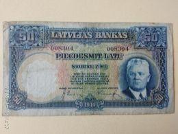 50 Latu 1934 - Lettonia