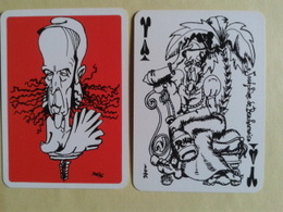 Le GISCARTE. Valet De Pique. Joséphine De Beauharnais. 20 Siècles D Histoire Caricaturés Par Giscard (Président) - Playing Cards (classic)