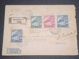 TCHÉCOSLOVAQUIE - Enveloppe En Recommandé De Pardubice Pour La France En 1947 , Affranchissement Plaisant - L 12414 - Tschechoslowakei/CSSR