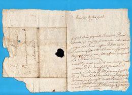 56 BAUD   HENNEBONT Lettre Manuscrite Entre Cousins Mr Perrier Procureur Hennebont 1746 - Manoscritti