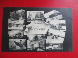 CPA 94 SOUVENIR DE SAINT MAUR MULTI VUES - Saint Maur Des Fosses