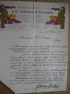 Brief 1898 Style ART NOUVEAU - LEIPZIG - J.G. SCHELTER & GIESECKE - Schriftgiesserei-Maschinenfabrik-Fonderie Caractère - Non Classés