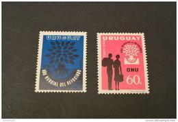 F6217- Stamps MNH Urugauy 1960- ONU -world Refugee Year - Uruguay