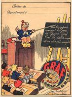 PROTEGE CAHIER - Crème De Gruyère GRAF - Illustrateur J. Bridge - Book Covers