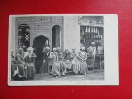 CPA EGYPTE CAFE ARABE HOMMES - Egypt