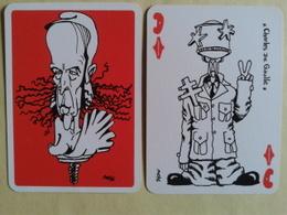 Le GISCARTE. Dame De Carreau. Charles De Gaulle. 20 Siècles D Histoire Caricaturés Par Giscard (Président) - Playing Cards (classic)