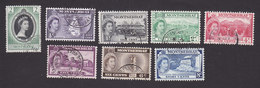 Montserrat, Scott #127-130, 132-135, Used, Coronation, Scenes Of Montserrat, Issued 1953 - Montserrat