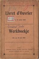 Livret Carnet De Travail Evrard J De Wanfercee Baulet Charbon Charbonnage Du Marquis à Vaux Campinaire - Du Petit Try - Documentos Históricos