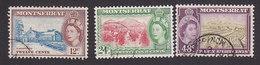 Montserrat, Scott #136-138, Used, Scenes Of Montserrat, Issued 1953 - Montserrat