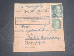 ALLEMAGNE - Formulaire De Colis Postal De Spindelmühle Pour Berlin En 1942 - L 12421 - Deutschland