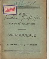 Livret Carnet De Travail De Manderus J De Wanfercée Baulet Houilleur Charbonnage Du Petit Try à Lambusart - Documentos Históricos
