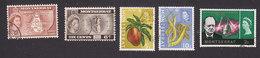 Montserrat, Scott #147-148, 163, 166, 179, Used, Map, Badge Of Colony, Produce, Churchill, Issued 1958-66 - Montserrat