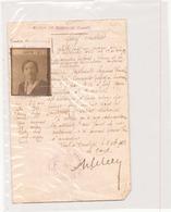 Sauf-conduit Du 16 Septembre 1922 à Dordives - Vieux Papiers