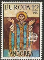Andorra Spanish 1975 Christ Fresco Cept  1 Value MNH Roman Painting From The Ordino Church - Unclassified