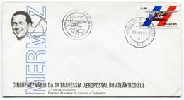 RC 6555 BRESIL 1980 MERMOZ 50 ANS DE LA 1ere TRAVERSÉE DE L'ATLANTIQUE SUR FDC 1er JOUR - Luchtpost