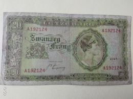 20 Francs 1943 - Luxembourg