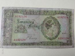 20 Francs 1943 - Lussemburgo