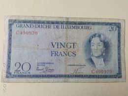 20 Francs 1955 - Luxembourg