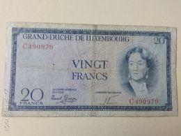 20 Francs 1955 - Lussemburgo
